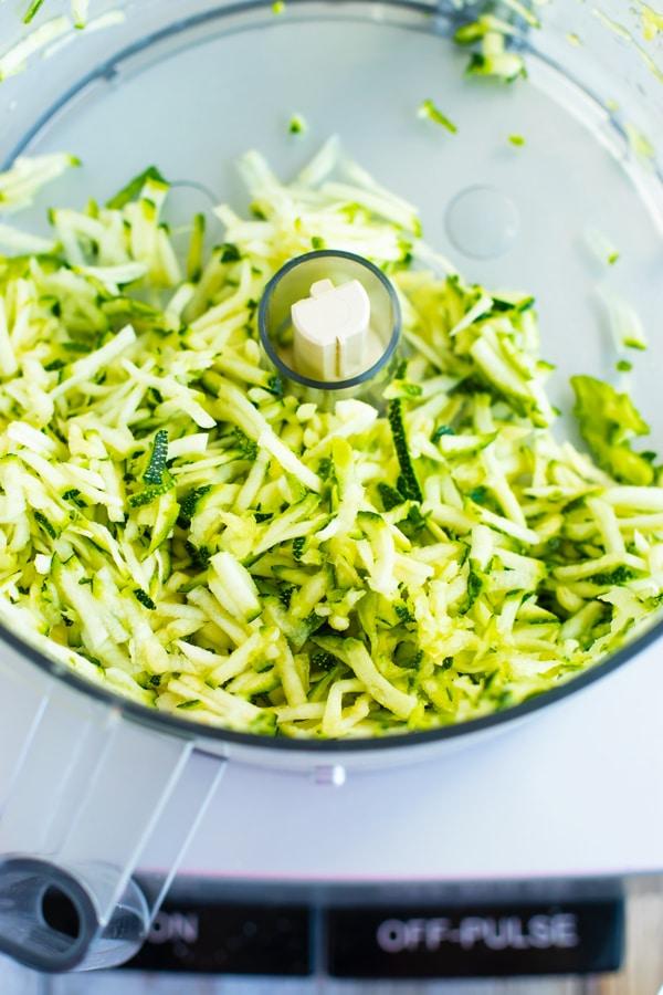 How Do You Make Shredded Zucchini for Healthy Zucchini Muffins?