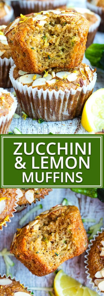 Healthy + Easy Paleo Zucchini Muffins Recipe | Not only are these zucchini muffins bursting with fresh lemon flavor, but they are also gluten free, grain-free, Paleo, refined sugar-free, and can easily be made vegan by using flax eggs instead of regular eggs.