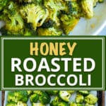 Oven roasted broccoli gets tossed in a sweet and tangy sauce full of honey, garlic, and oil. This easyroasted broccoli recipe is a quick, healthy, gluten-free, dairy-free, low-carb, and Paleo side dish for busy weeknight dinners!