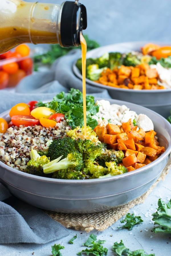 Sweet Potato Broccoli Quinoa Bowl Recipe With Chicken