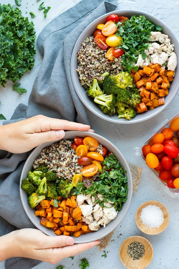 Sweet Potato Broccoli Quinoa Bowl