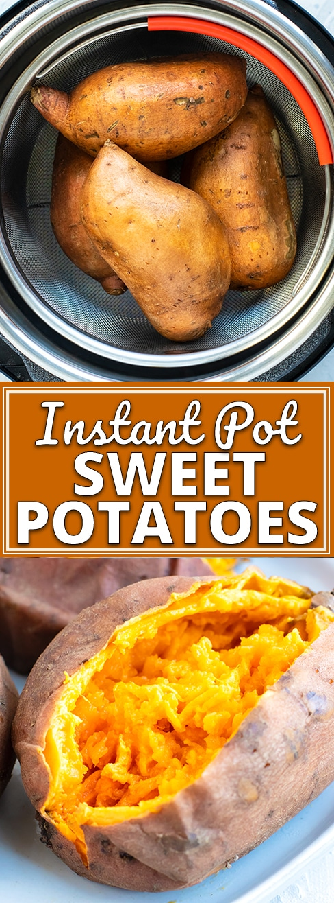 Instant Pot Sweet Potato | Whip up a perfectly cooked Instant Pot Sweet Potato in under 30 minutes!  It is so easy to cook a whole sweet potato in the pressure cooker to make a sweet potato casserole for Thanksgiving or turn it into mashed sweet potatoes for a healthy dinner side dish recipe! #evolvingtable #instantpot #sweetpotato #sidedish #recipe #Thanksgiving #dinner