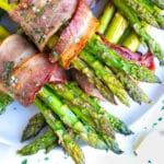 Bacon Wrapped Asparagus Bundles Recipe | Low-Carb, Keto, Side Dish Recipe