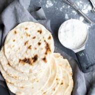 Paleo Cassava flour tortillas are easy to make, quick, healthy, vegan, Whole30, and taste as good as a homemade flour tortilla recipe!  Wrap all of your favorite gluten-free and dairy-free ingredients into these homemade Paleo tortillas and enjoy Paleo tacos for lunch or dinner. #evolvingtable #Paleo #tortillas #cassavaflour #whole30 #vegan #tacos #glutenfree