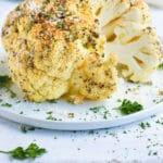 Whole Roasted Cauliflower Head Recipe | Baked Cauliflower Recipe | Oven Roasted Cauliflower