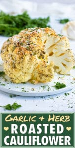 Whole Roasted Cauliflower Head Recipe | Baked Cauliflower Recipe | Oven Roasted Cauliflower