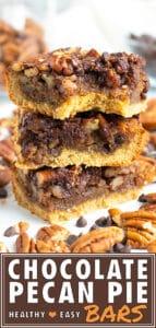 Chocolate Pecan Pie Bars | Paleo, Gluten-Free