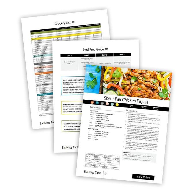 Healthy Weekly Meal Plan & Meal Prep