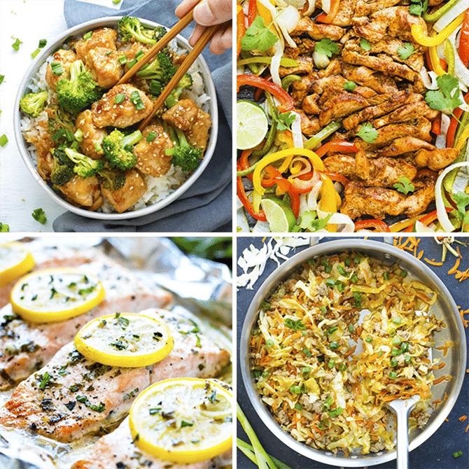Healthy Dinner Meal Plan & Meal Prep #1