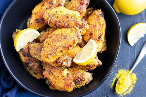 Crispy Lemon Pepper Chicken Wings Recipe Evolving Table