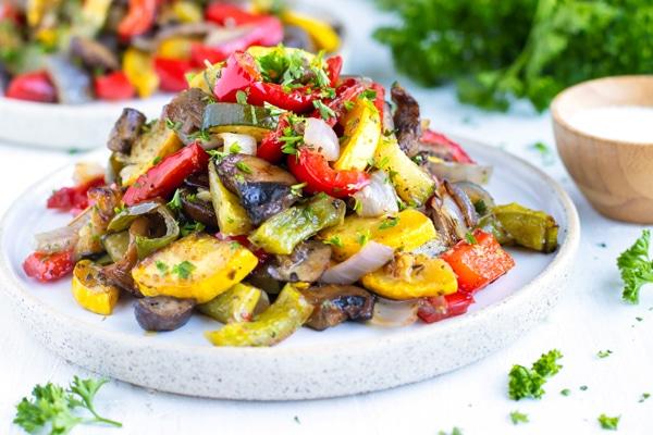 Easy Italian Oven Roasted Vegetables Evolving Table