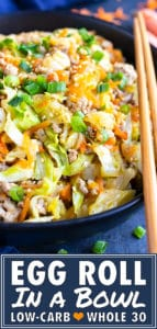 Egg Roll in a Bowl Recipe | Keto, Paleo, Whole30 | Easy Ground Turkey Dinner Recipe