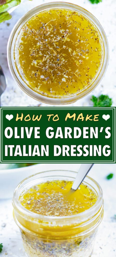 Olive Garden Italian Dressing Recipe | Homemade Salad Vinaigrette