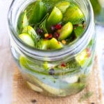 Refrigerator Dill Pickles Recipe | Easy Overnight Pickled Cucumbers