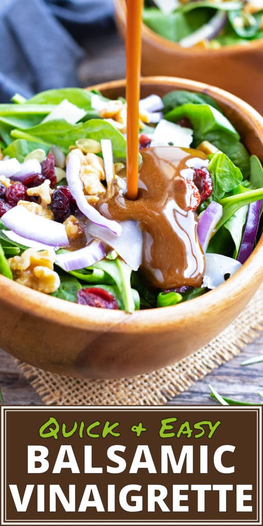 Easy Homemade Balsamic Vinaigrette | Healthy Salad Dressing Recipe