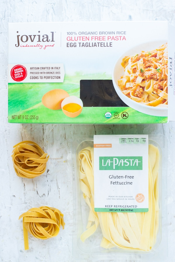 The best gluten-free pasta brands to use in easy pasta dinner recipes.