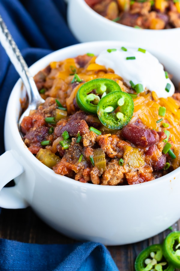 Healthy Instant Pot Turkey Chili Recipe Evolving Table