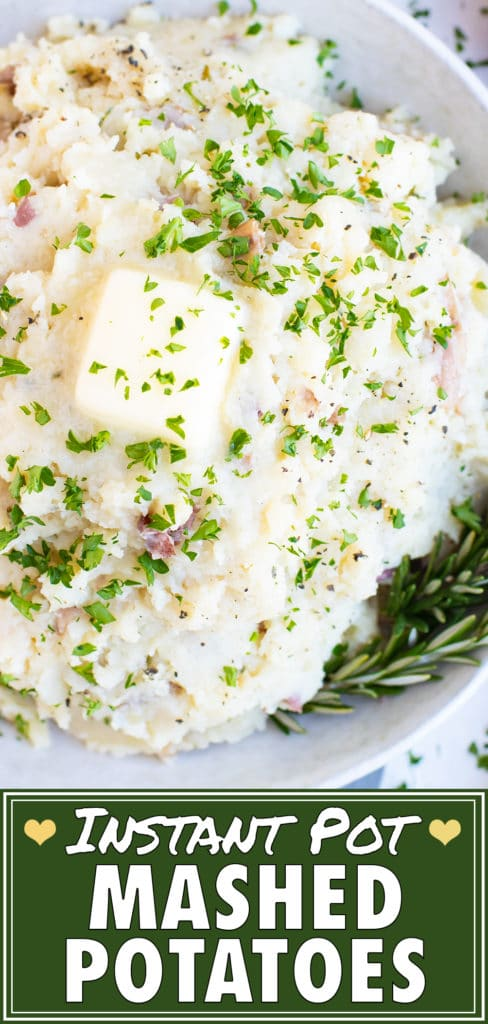 Instant Pot Mashed Red Potatoes Recipe | Easy, Vegan, Gluten-Free, Whole30