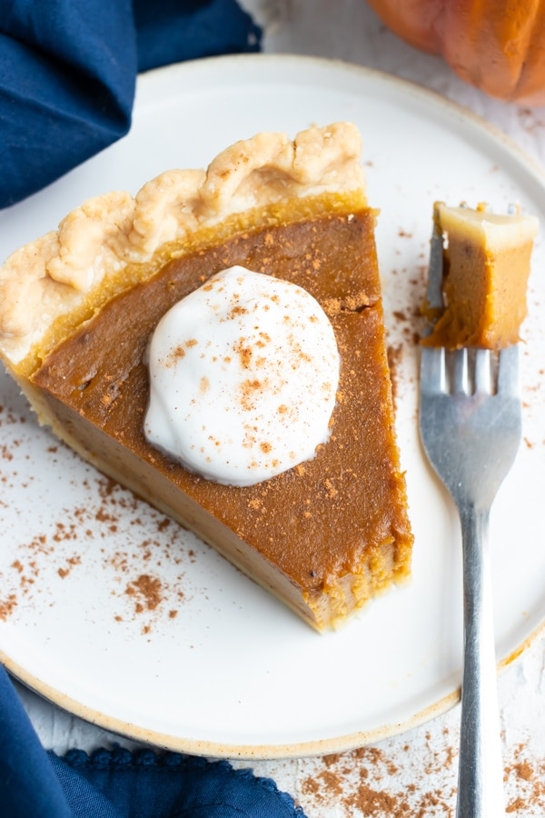 The best pumpkin pie with a bite taken out of it.