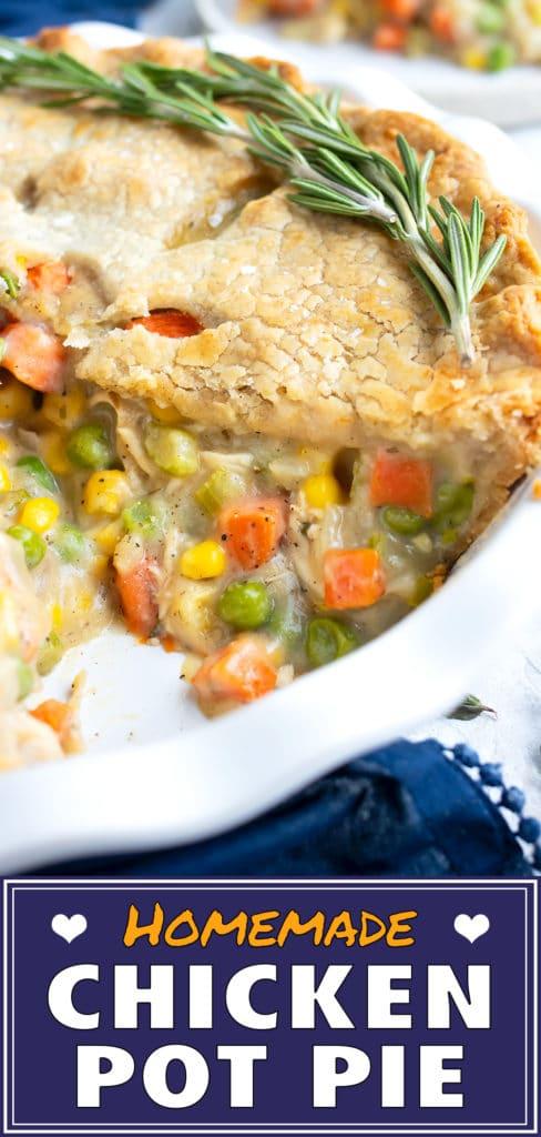 Homemade Chicken Pot Pie Recipe | How to Make a Healthy Chicken Pot Pie | Gluten-Free