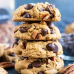 An easy gluten-free homemade cookie recipe with chocolate chips and peanut butter.