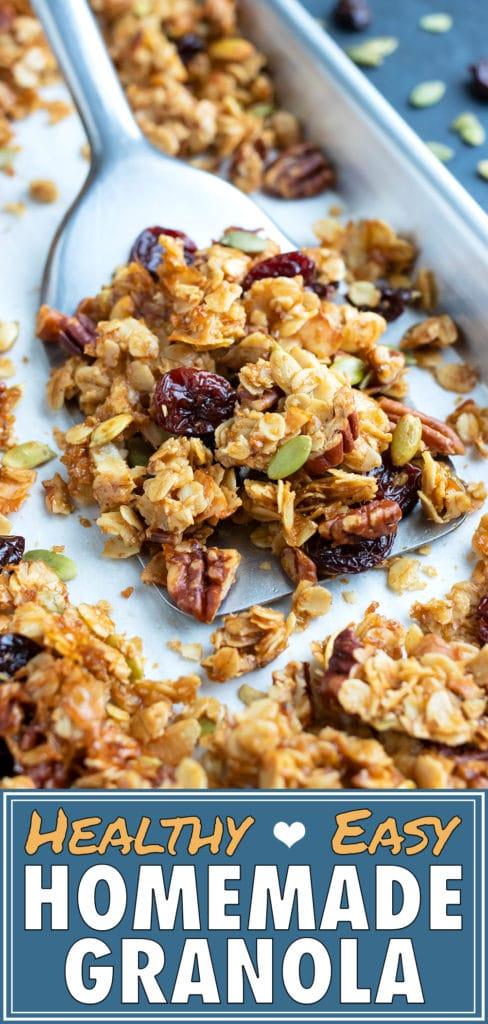 Healthy Homemade Granola Recipe | How to Make Granola | Gluten-Free, Vegan, Paleo