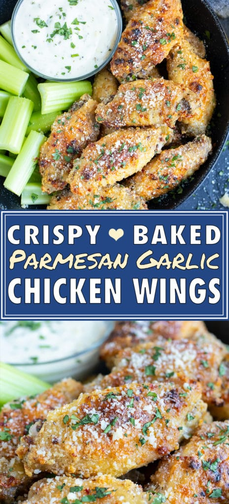 Garlic Parmesan Chicken Wings | How to Bake Wings | Gluten-free, Low-Carb, Keto