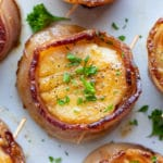 A quick, easy, low-carb, and keto scallop recipe with bacon.