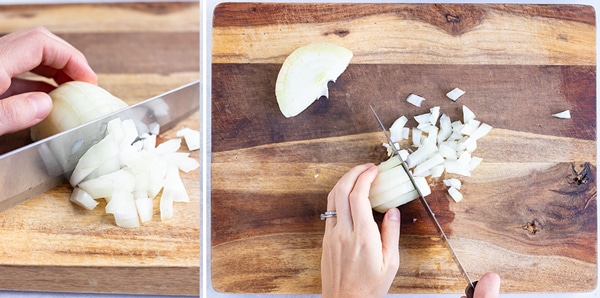 Learn how to dice an onion quickly and easily.