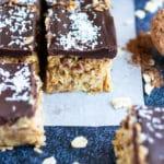 No-Bake Oatmeal Bars   Samoa Cookie Bars Recipe   Gluten-Free, Vegan, Healthy