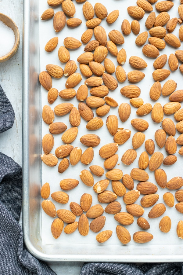 Bring out the natural flavor of roasted almonds with a sprinkle of sea salt.