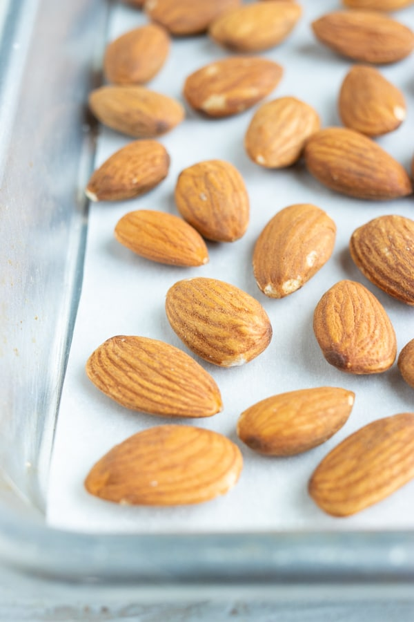 Roasted almonds have great crunchy texture and better flavor/