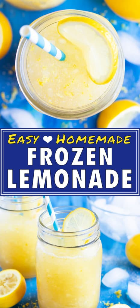 Easy Homemade Frozen Lemonade Recipe | Healthy Summer Drink | Kids Slushie
