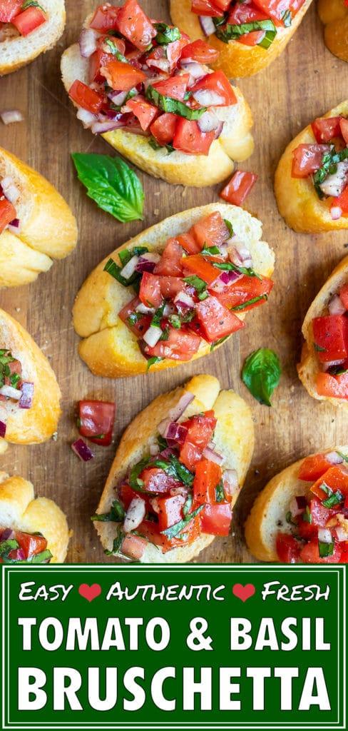 Tomato Bruschetta Recipe | Fresh, Homemade, Easy Italian Bruschetta Bread