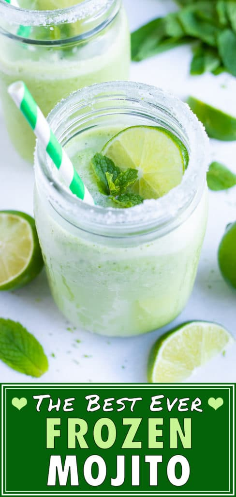 An easy mojito recipe that is a frozen summer cocktail.