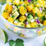 Mango Avocado Salsa Recipe | Quick, Easy, Spicy Fruit Dip