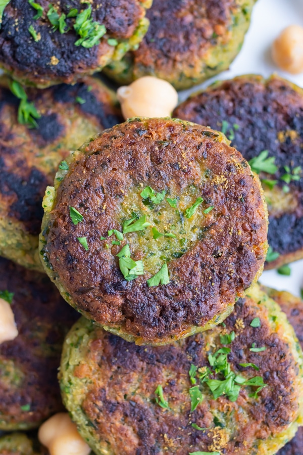 Falafel is a traditional Greek recipe made with chickpeas.