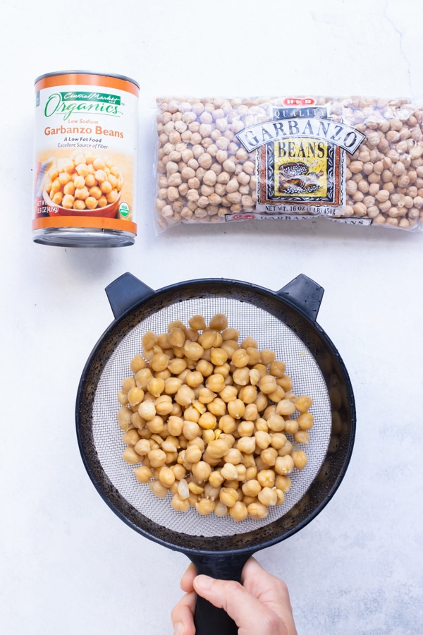 Use canned chickpeas or dried chickpeas in this authentic Mediterranean dish.
