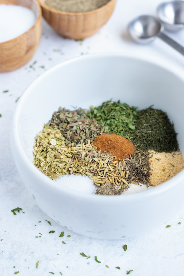 Greek seasoning is an easy DIY spice blend made with common dried herbs and spices.