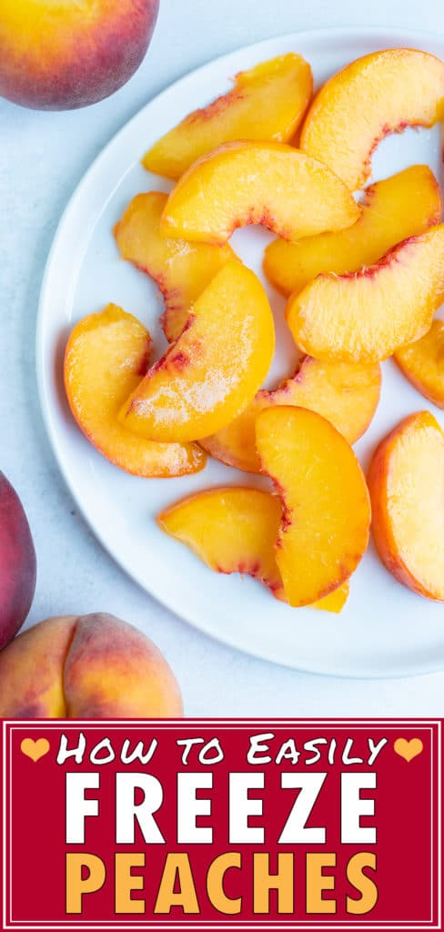Frozen peaches are to be used for cobblers, pies, and smoothies