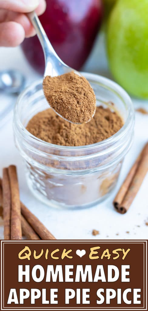 Once all spices are combined, use this homemade spice blend in your baked goods.