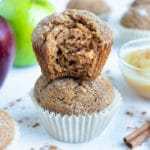 Learn how to make apple muffins for a healthy recipe full of cinnamon and spice.