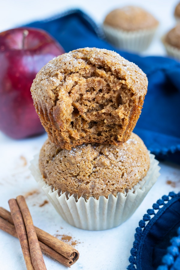 Enjoy these fluffy muffins for breakfast, a snack, or dessert this fall.
