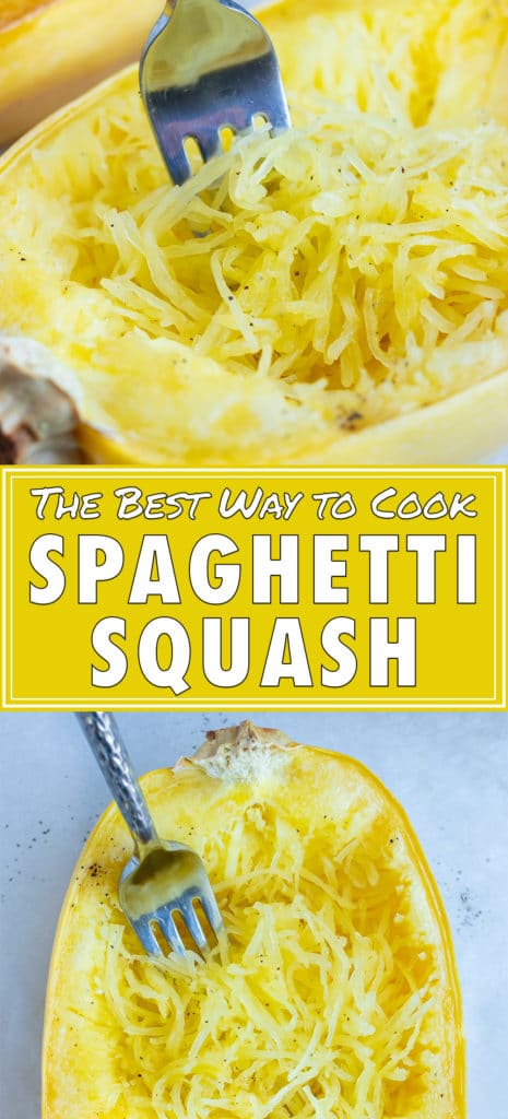 Baked spaghetti squash is a low carb lunch or dinner dish.