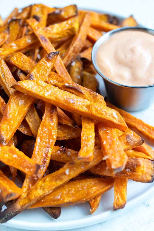Serve sweet potato fries as a gluten-free side dish at your next dinner.