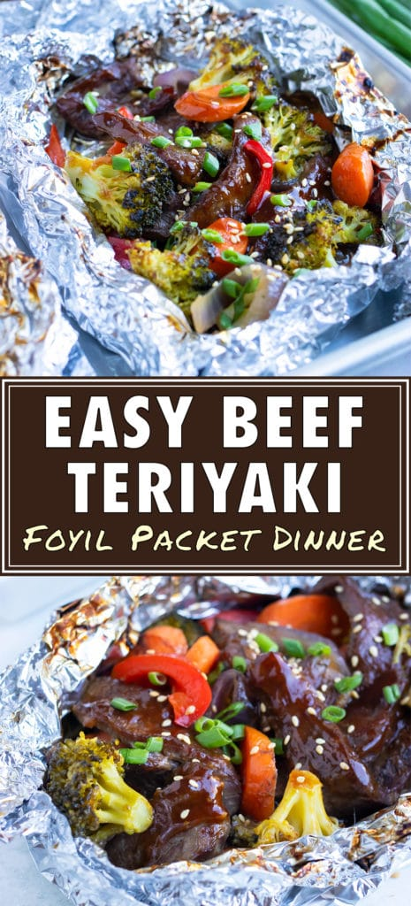 Healthy and easy beef teriyaki recipe is an asian inspired foil dinner.