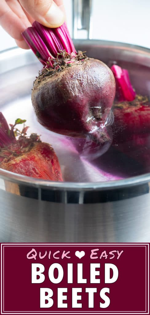 Learn how to boil whole beets so they are tender, soft, and ready for recipes.