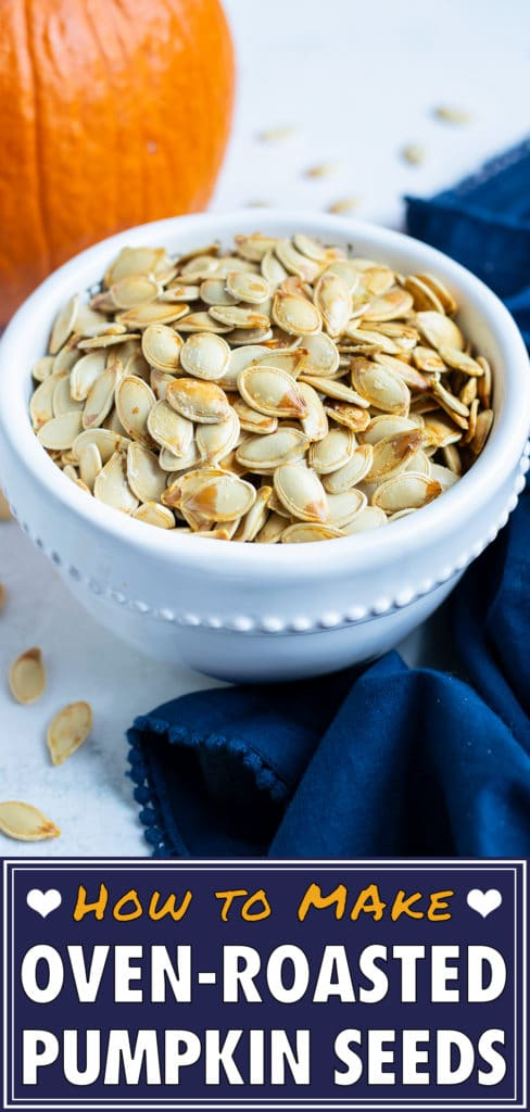 Learn how to make pumpkin seeds in this best roasted pumpkin seeds recipe.