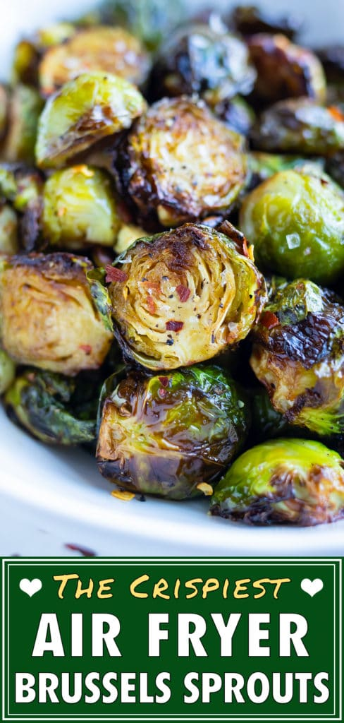 A pile of crispy brussels sprouts are served for a healthy, low-carb side.