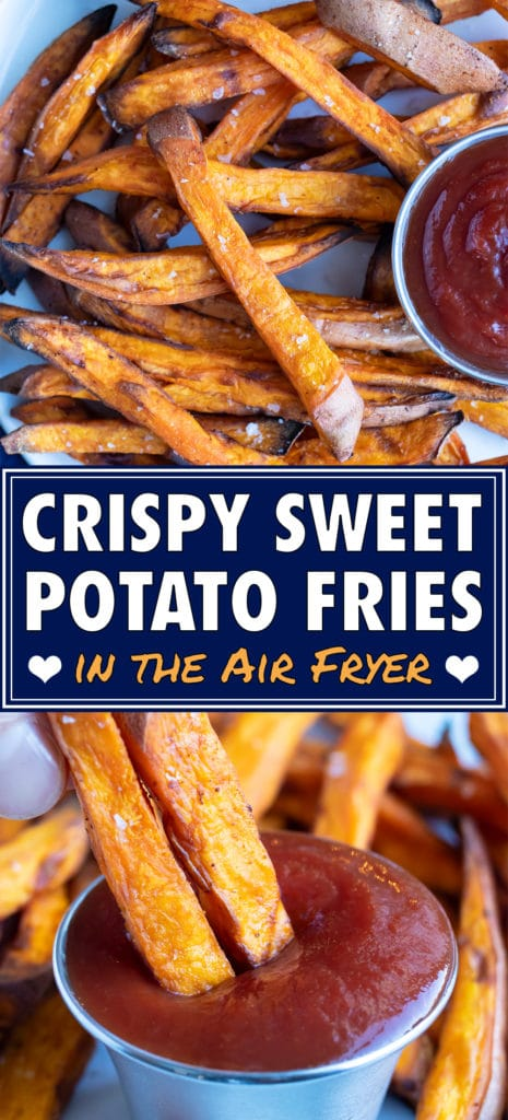 The healthy sweet potato fries are served for a healthy dish.